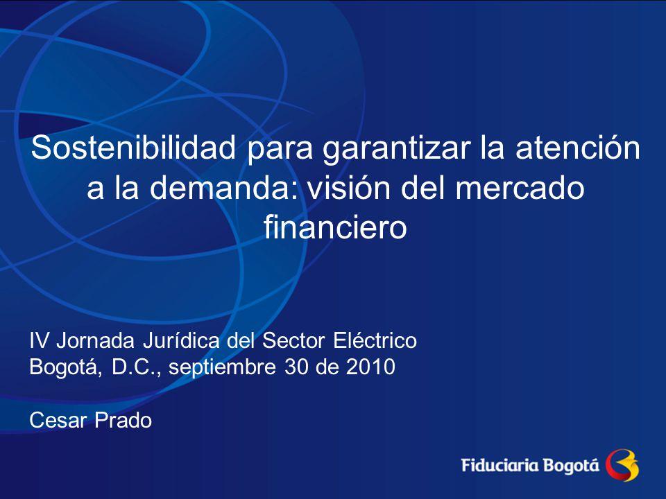 Sostenibilidad para garantizar la atención a la demanda: visión del mercado financiero