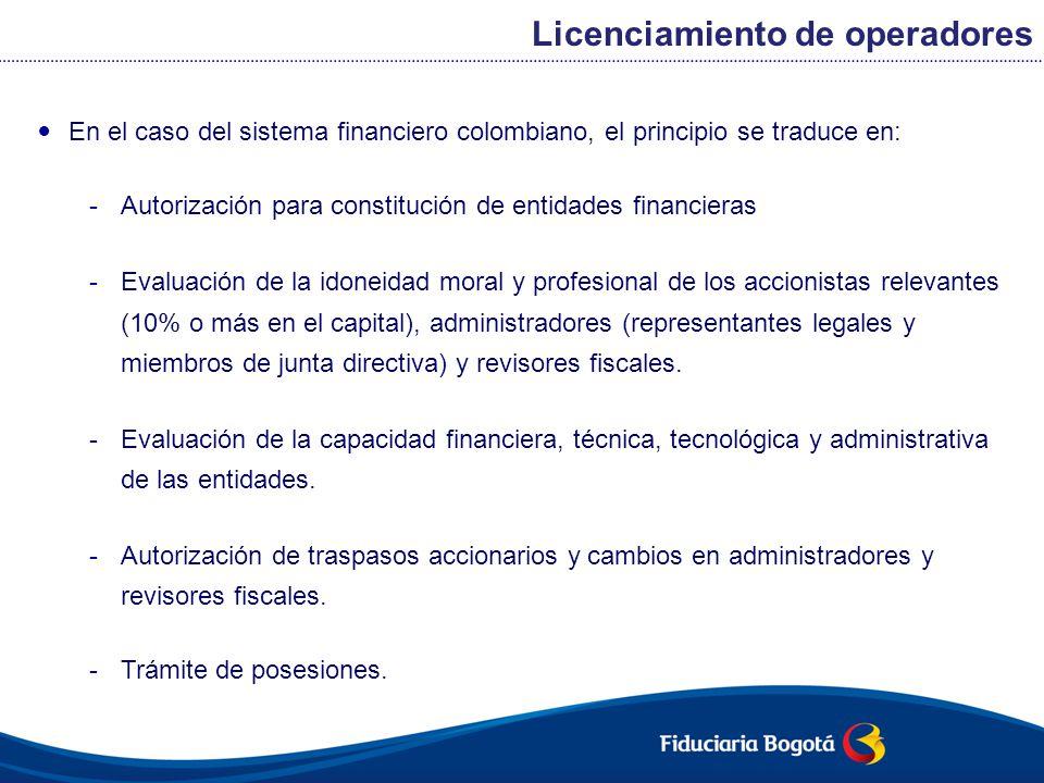 Licenciamiento de operadores