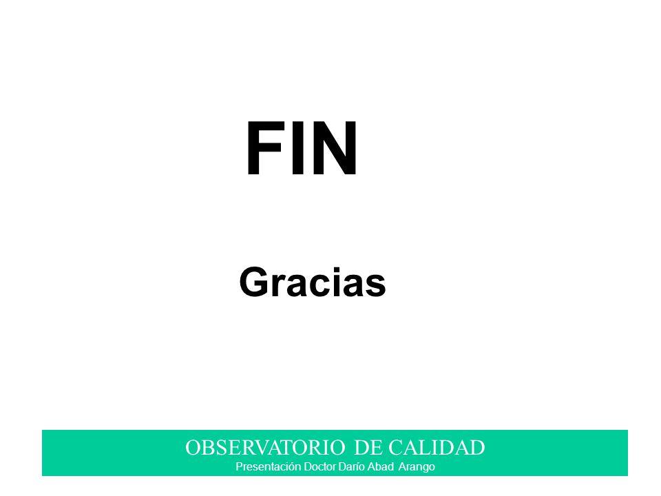 FIN Gracias OBSERVATORIO DE CALIDAD