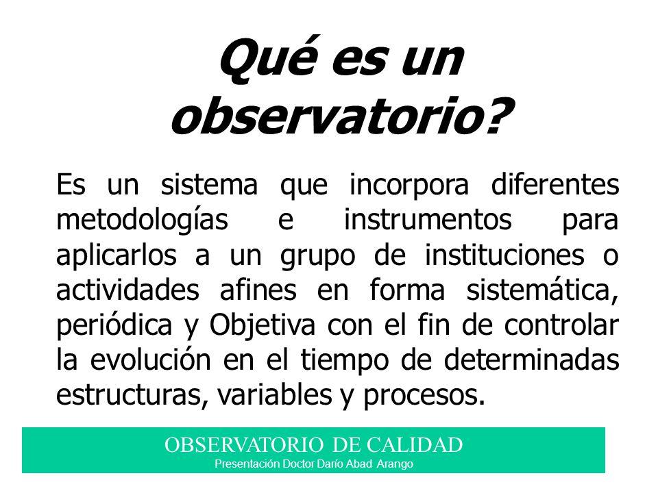 Qué es un observatorio