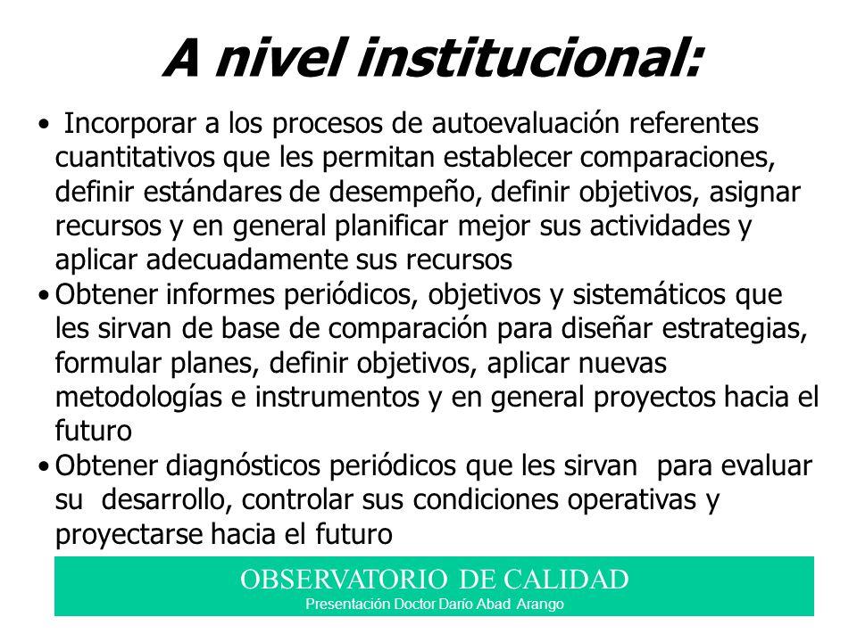 A nivel institucional: