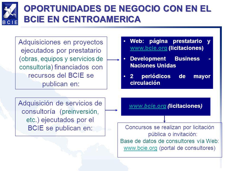 www.bcie.org (licitaciones)
