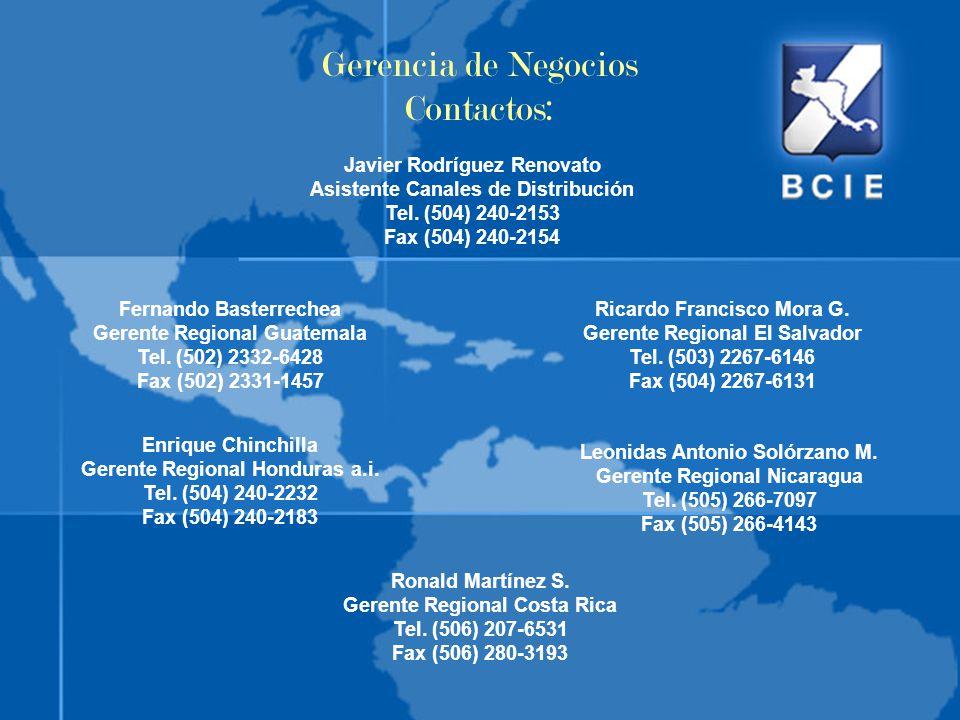 Gerencia de Negocios Contactos: Javier Rodríguez Renovato