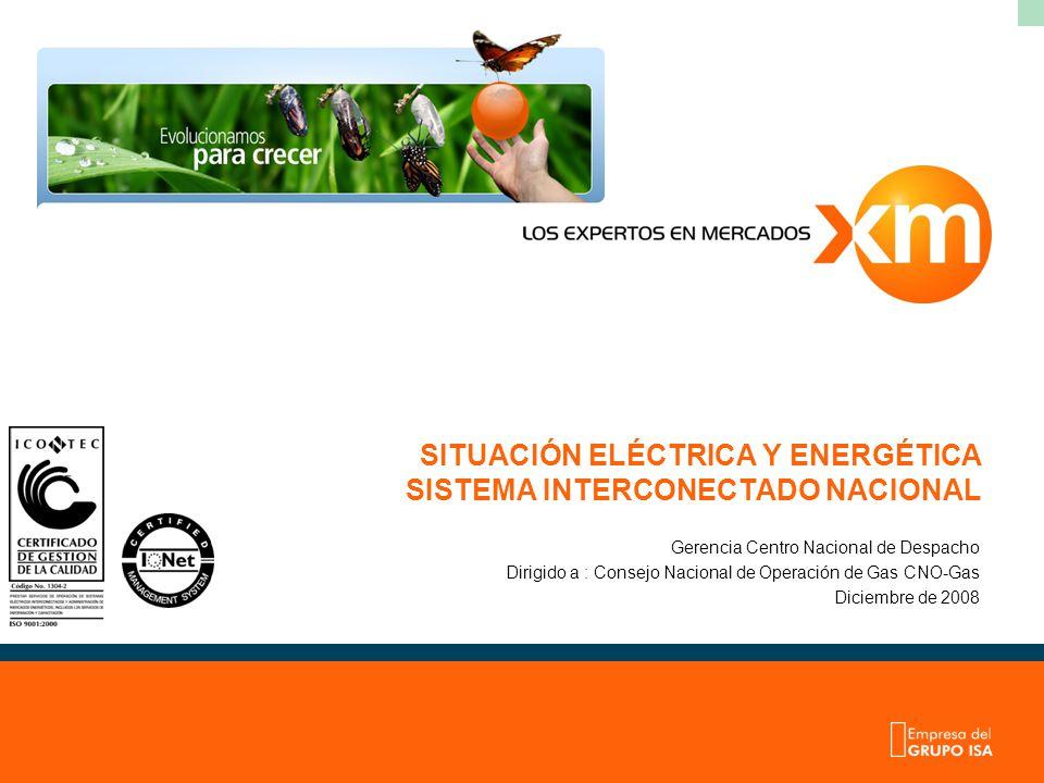 SITUACIÓN ELÉCTRICA Y ENERGÉTICA SISTEMA INTERCONECTADO NACIONAL