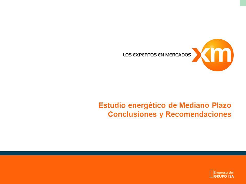 Estudio energético de Mediano Plazo Conclusiones y Recomendaciones