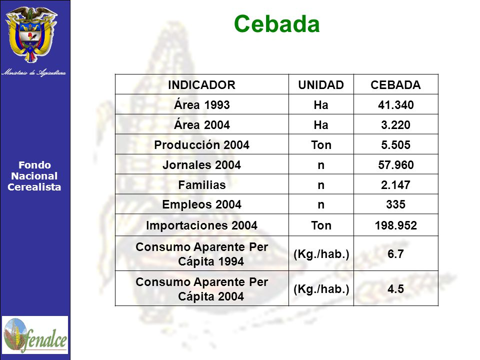 Consumo Aparente Per Cápita 1994 Consumo Aparente Per Cápita 2004