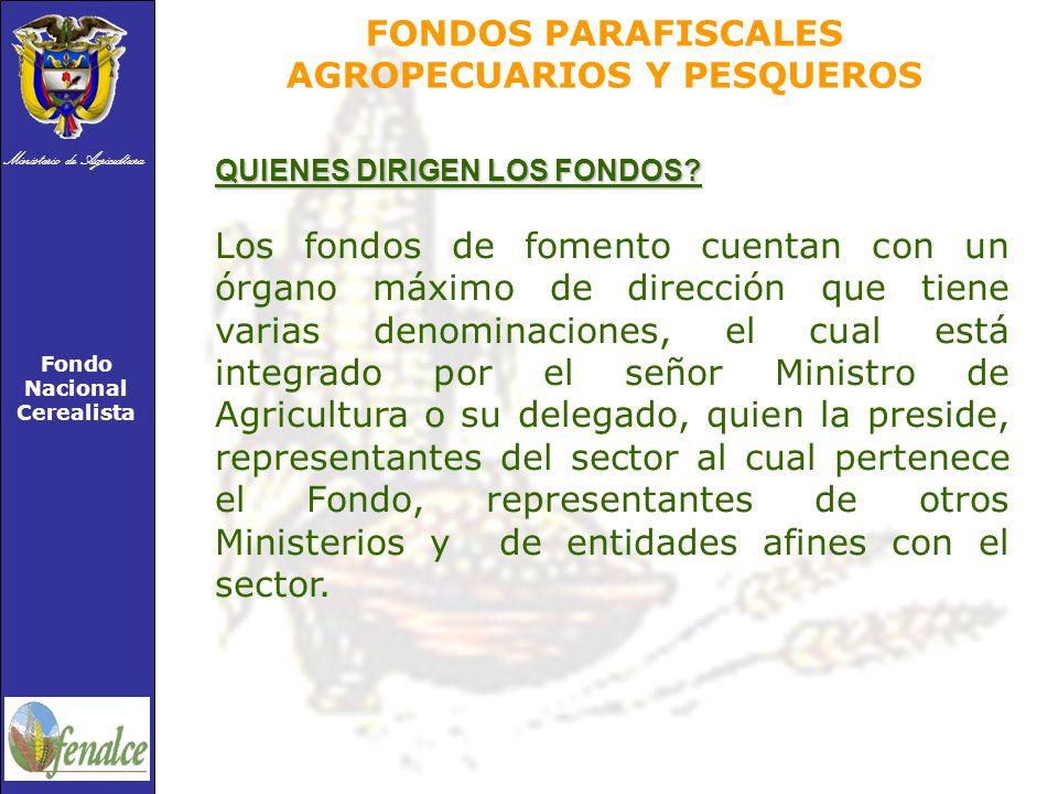 FONDOS PARAFISCALES AGROPECUARIOS Y PESQUEROS