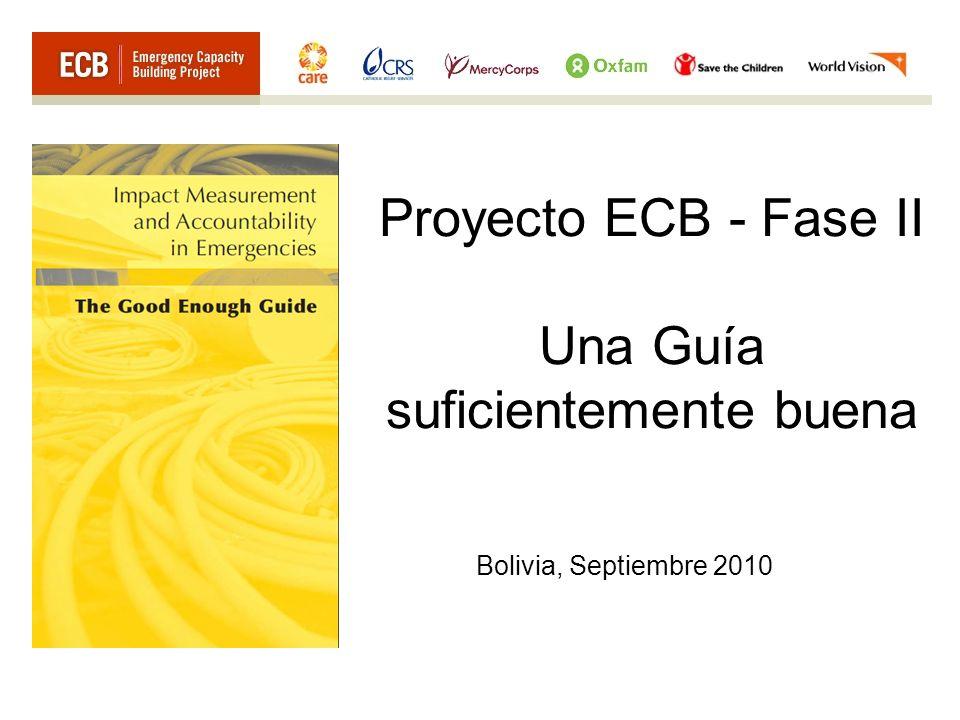 Proyecto ECB - Fase II Una Guía suficientemente buena