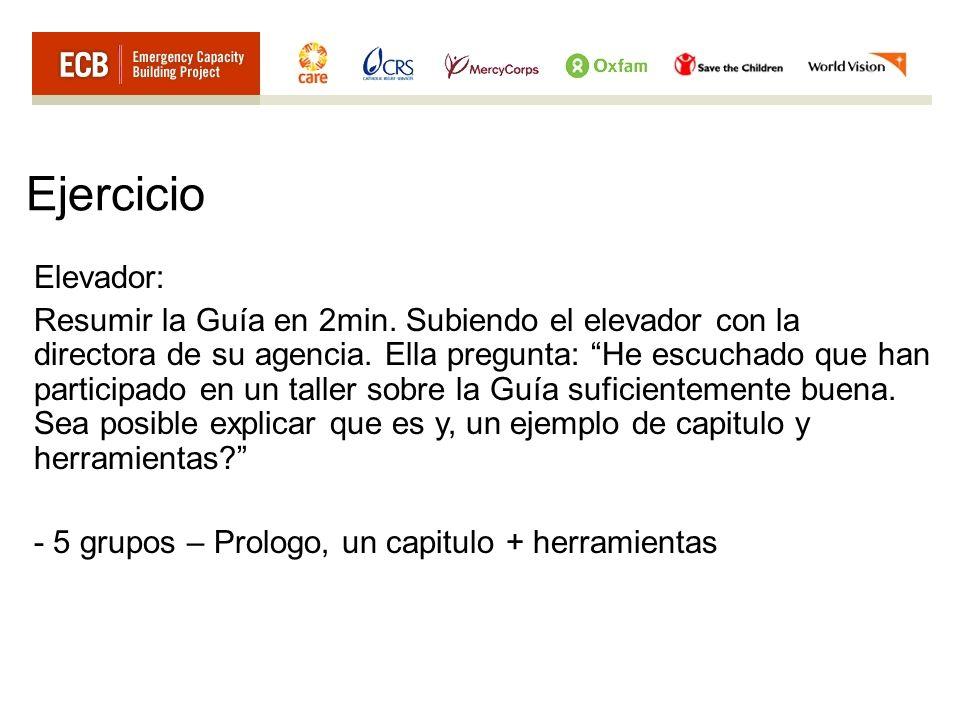 Ejercicio Elevador: