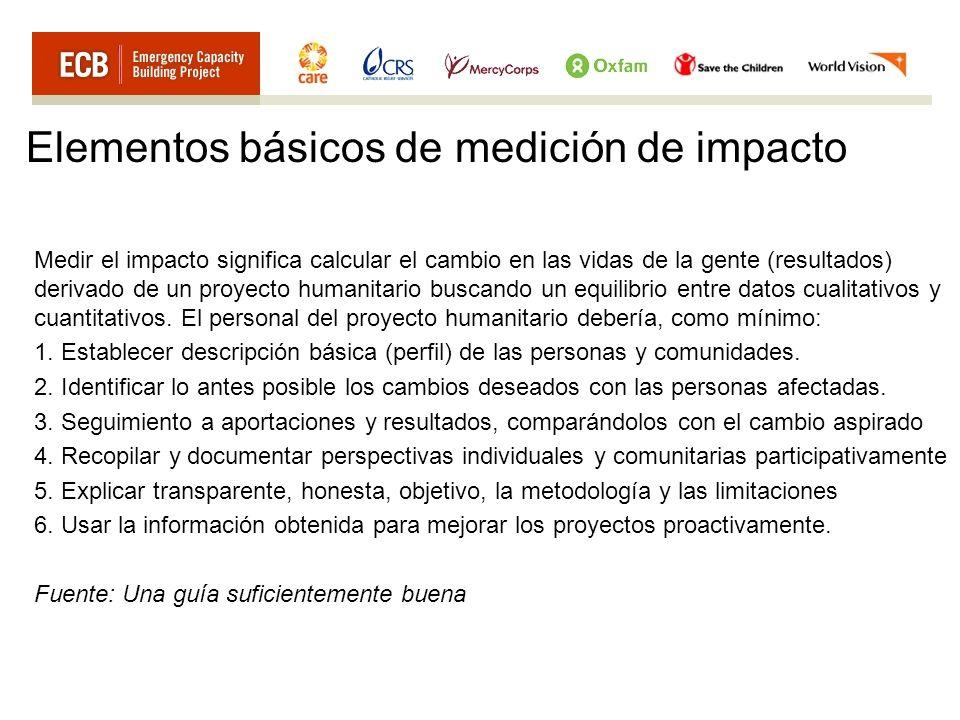 Elementos básicos de medición de impacto
