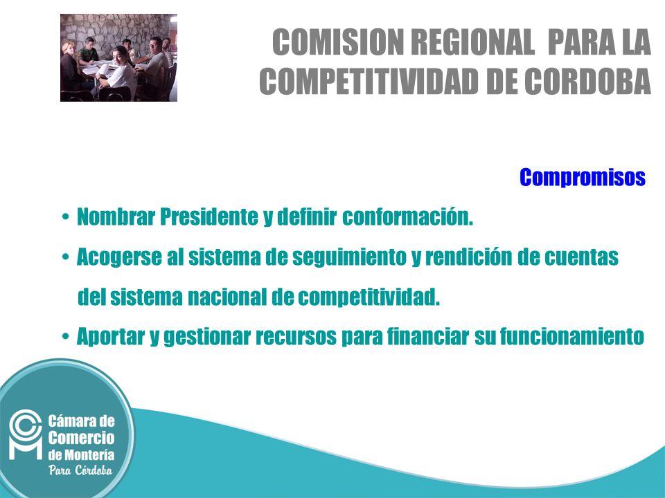 COMISION REGIONAL PARA LA COMPETITIVIDAD DE CORDOBA