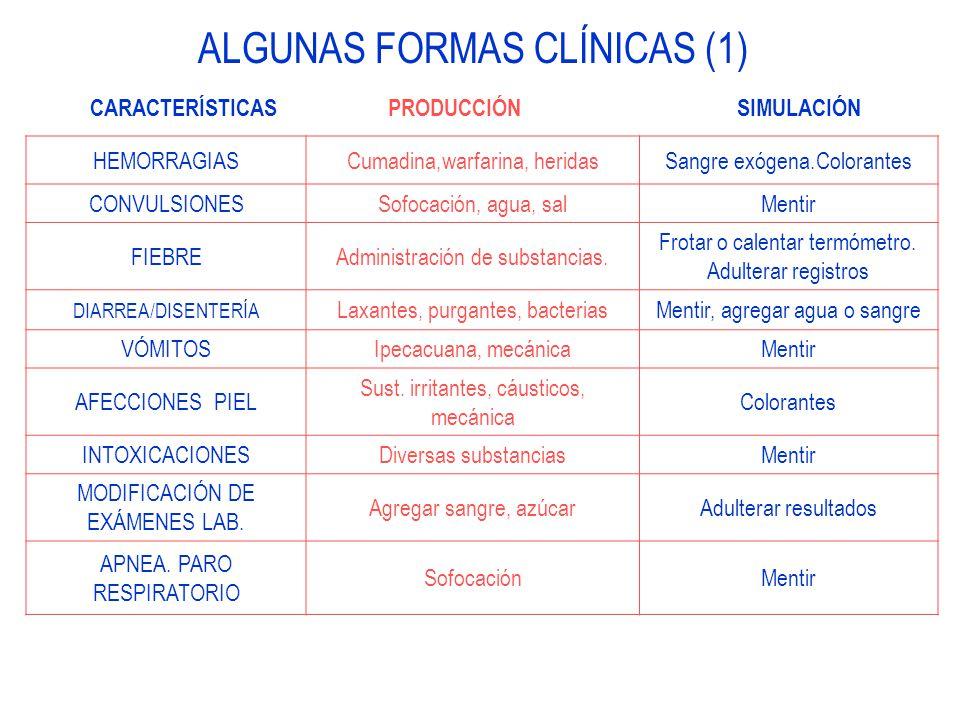 ALGUNAS FORMAS CLÍNICAS (1)