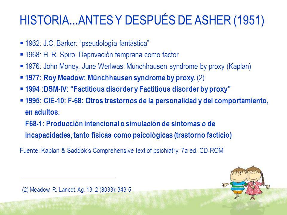 HISTORIA...ANTES Y DESPUÉS DE ASHER (1951)