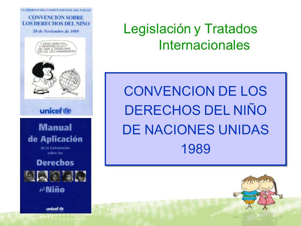 Legislación y Tratados Internacionales