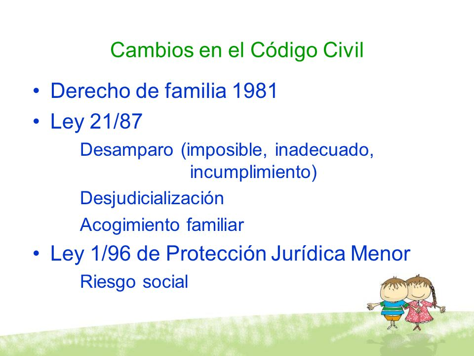 Cambios en el Código Civil