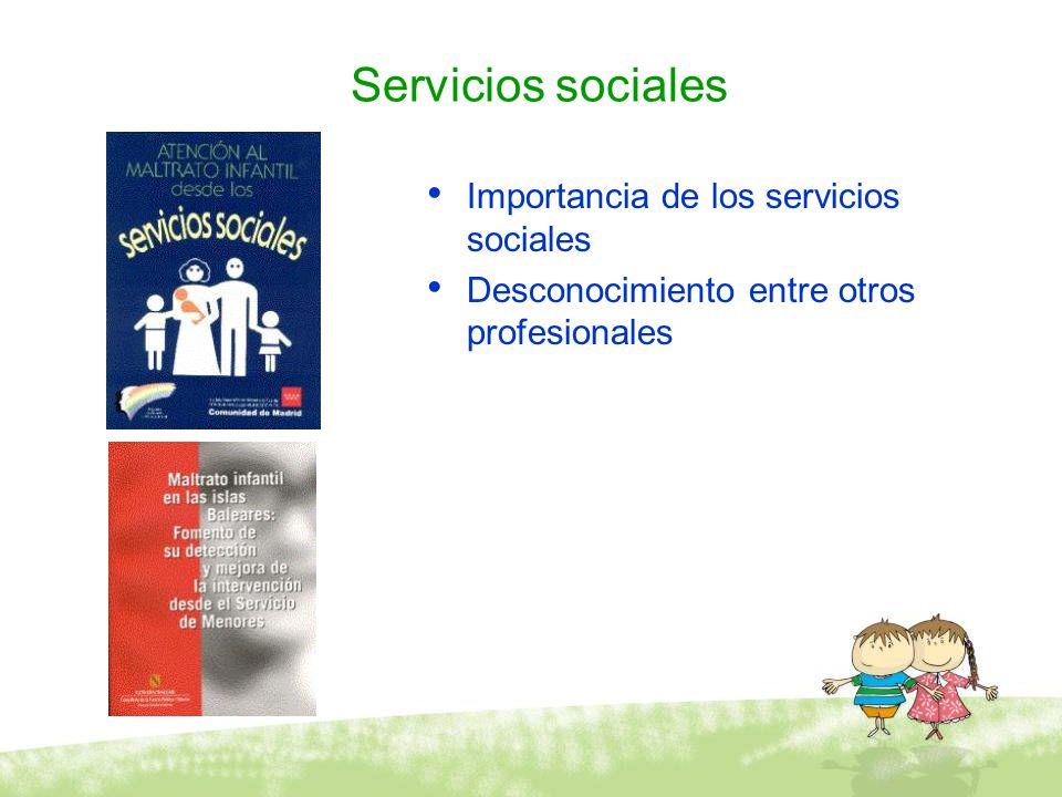 Servicios sociales Importancia de los servicios sociales