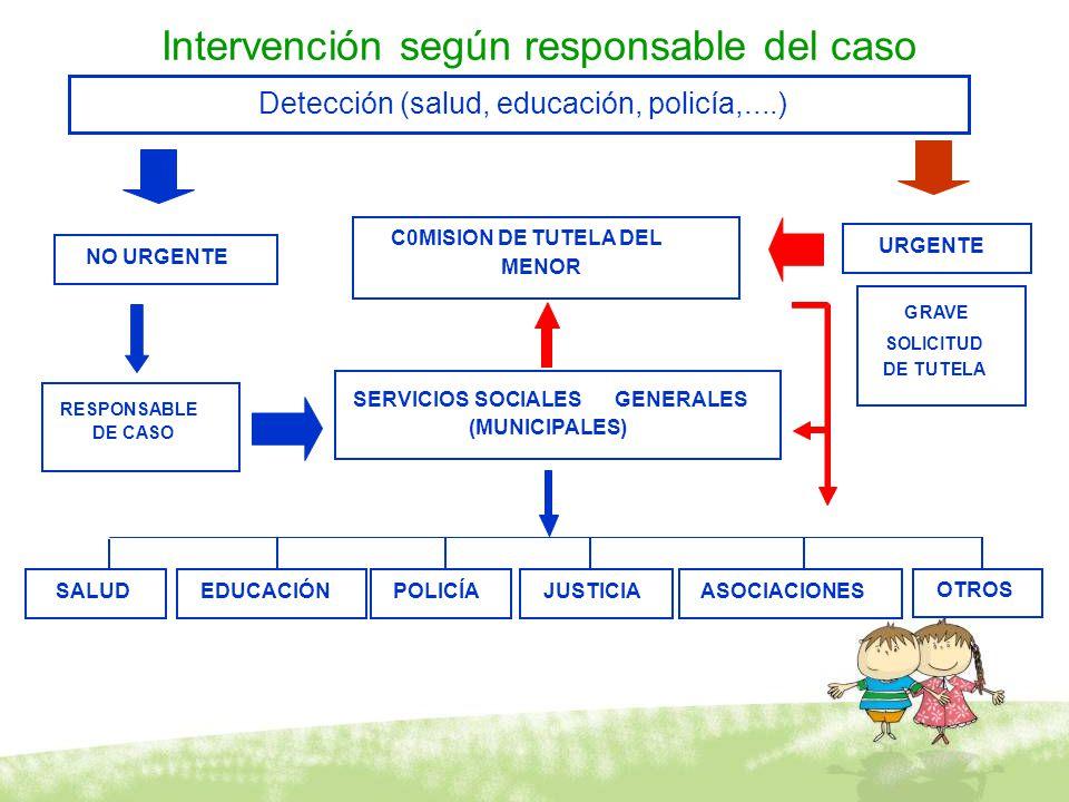 Intervención según responsable del caso