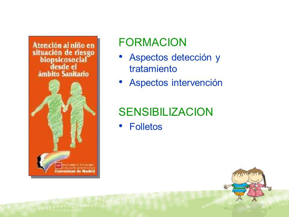 FORMACION SENSIBILIZACION Aspectos detección y tratamiento