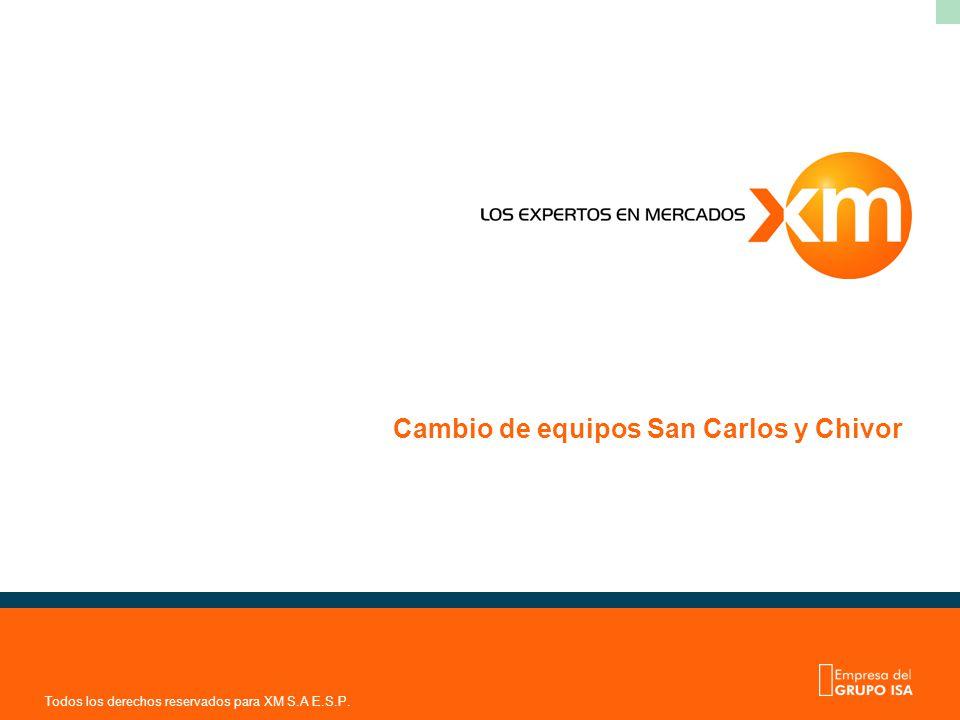 Cambio de equipos San Carlos y Chivor