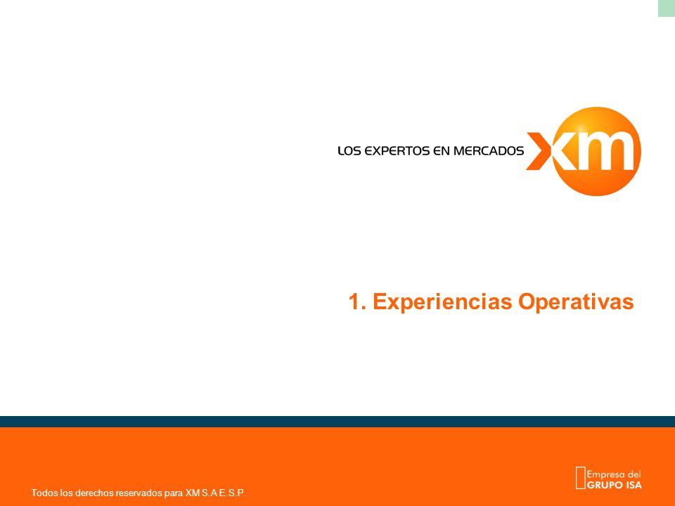 1. Experiencias Operativas