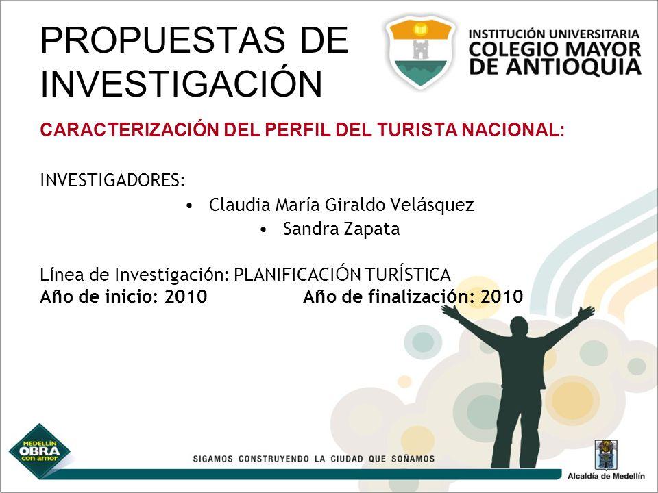 PROPUESTAS DE INVESTIGACIÓN