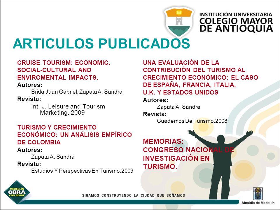ARTICULOS PUBLICADOS MEMORIAS: CONGRESO NACIONAL DE INVESTIGACIÓN EN