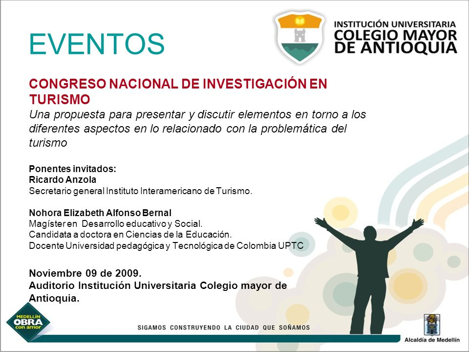 EVENTOS CONGRESO NACIONAL DE INVESTIGACIÓN EN TURISMO
