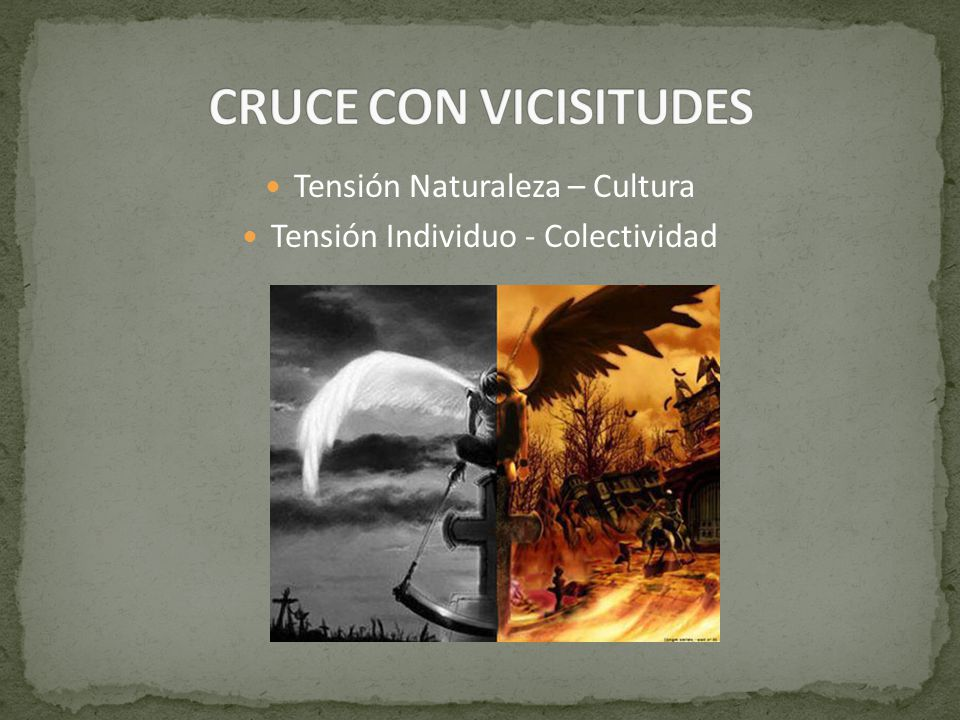 CRUCE CON VICISITUDES Tensión Naturaleza – Cultura