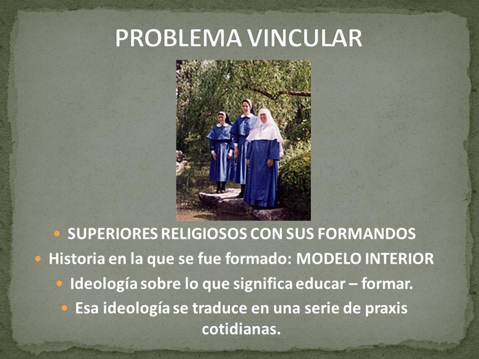 PROBLEMA VINCULAR SUPERIORES RELIGIOSOS CON SUS FORMANDOS