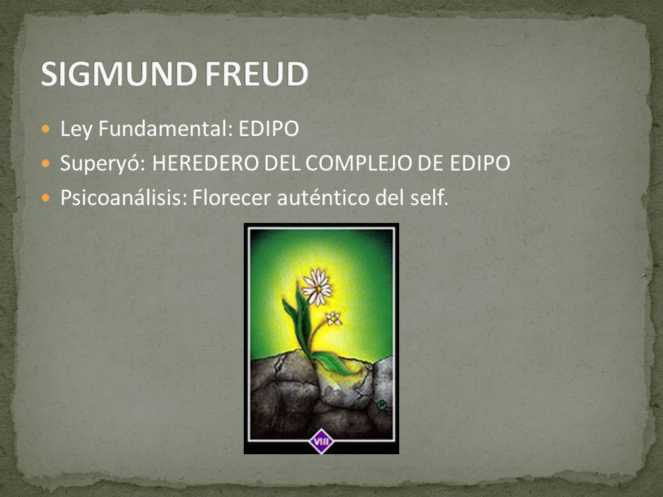 SIGMUND FREUD Ley Fundamental: EDIPO
