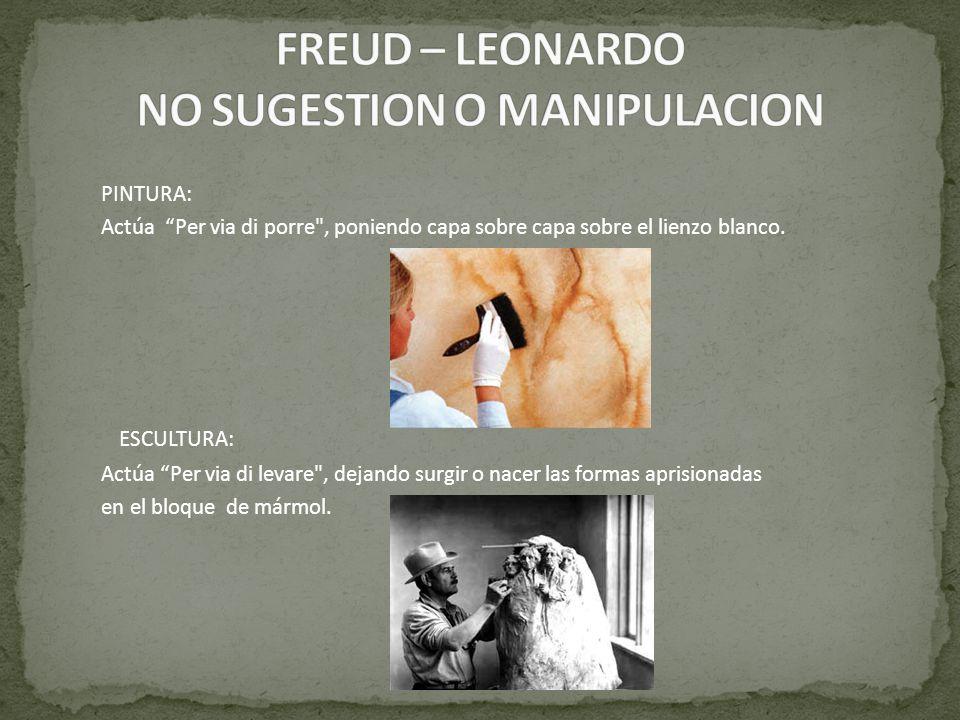 FREUD – LEONARDO NO SUGESTION O MANIPULACION