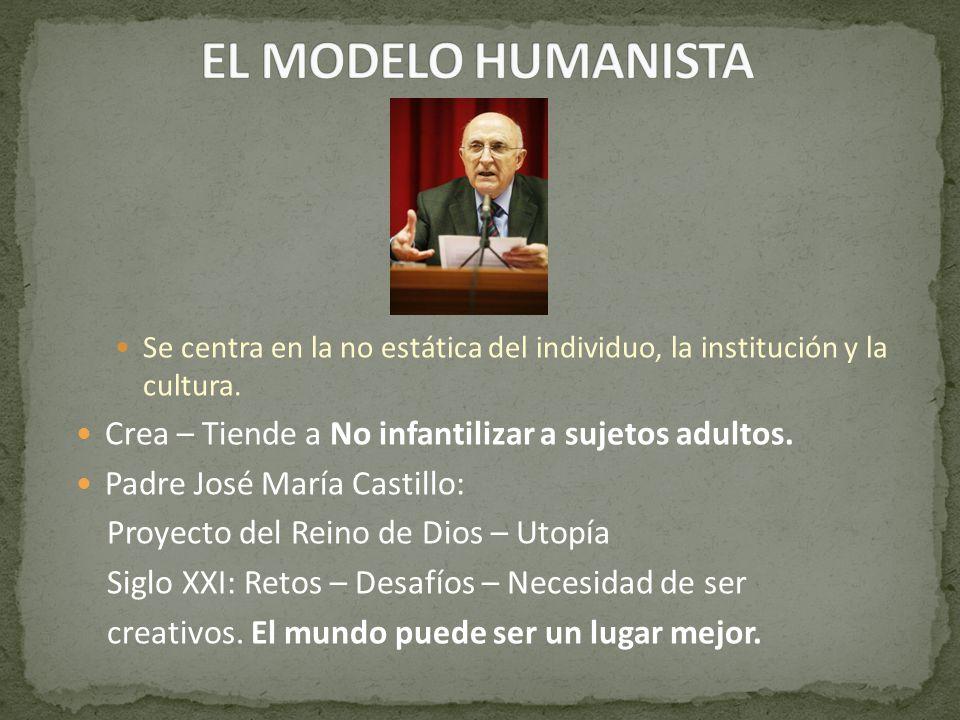 EL MODELO HUMANISTA Crea – Tiende a No infantilizar a sujetos adultos.