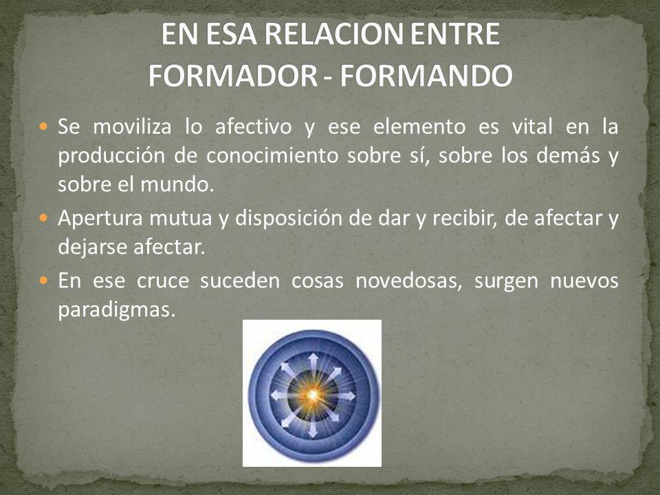 EN ESA RELACION ENTRE FORMADOR - FORMANDO