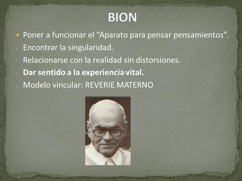 BION Poner a funcionar el Aparato para pensar pensamientos .