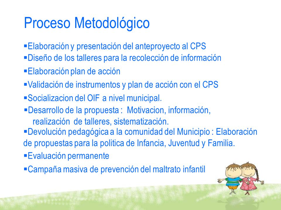 Proceso Metodológico Elaboración y presentación del anteproyecto al CPS. Diseño de los talleres para la recolección de información.