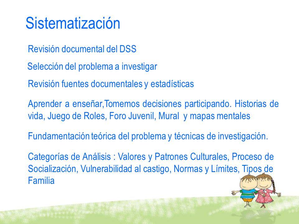 Sistematización Revisión documental del DSS