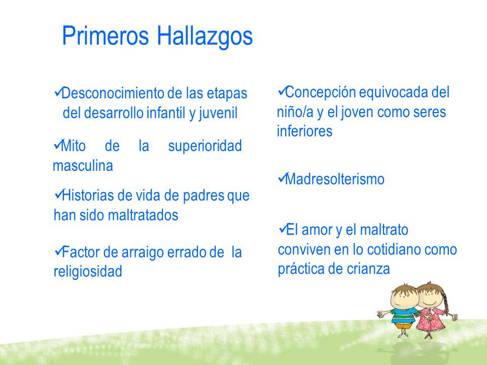 Desconocimiento de las etapas del desarrollo infantil y juvenil