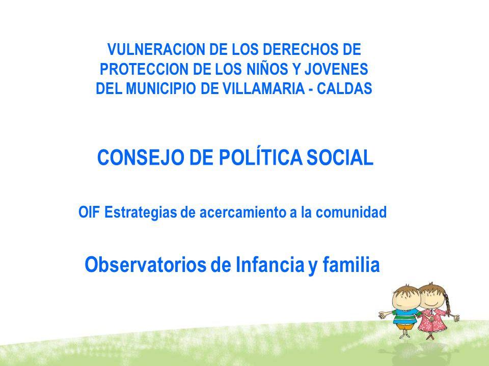 Observatorios de Infancia y familia