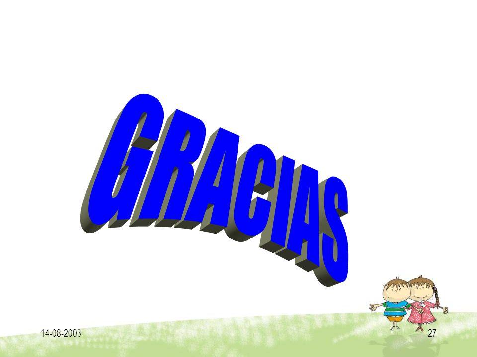 GRACIAS 14-08-2003