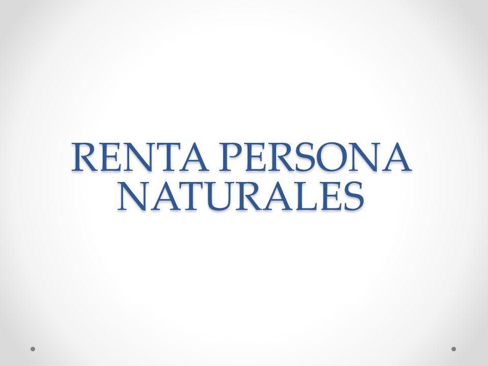 RENTA PERSONA NATURALES