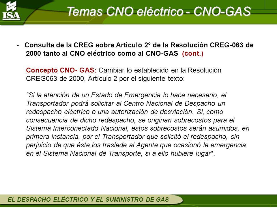 Temas CNO eléctrico - CNO-GAS