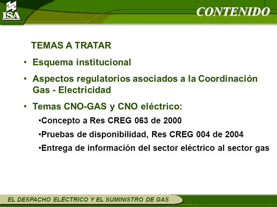 CONTENIDO TEMAS A TRATAR Esquema institucional