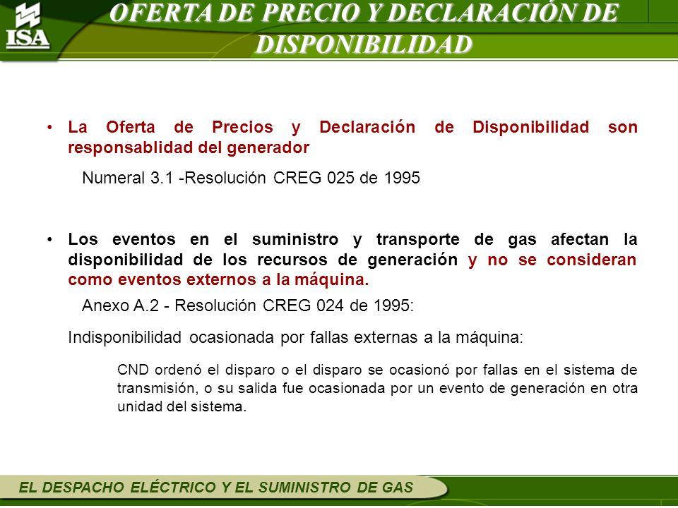 OFERTA DE PRECIO Y DECLARACIÓN DE DISPONIBILIDAD