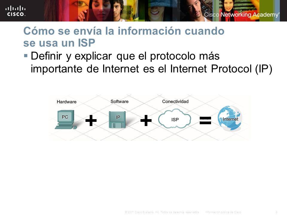 Cómo se envía la información cuando se usa un ISP