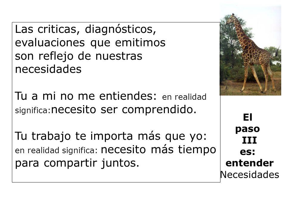 Las criticas, diagnósticos, evaluaciones que emitimos