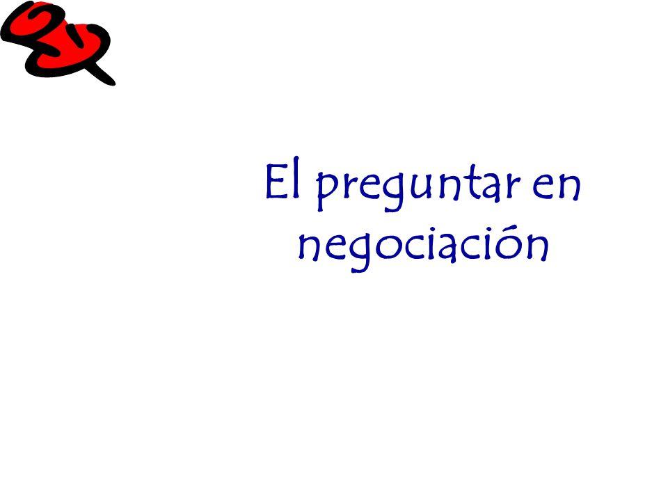 El preguntar en negociación