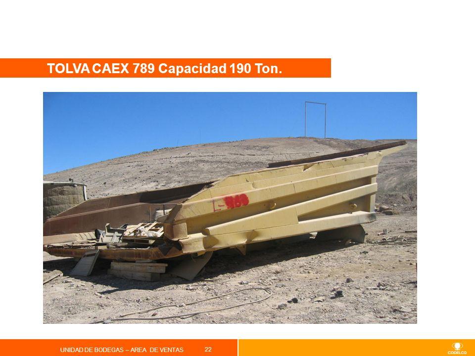 TOLVA CAEX 789 Capacidad 190 Ton.