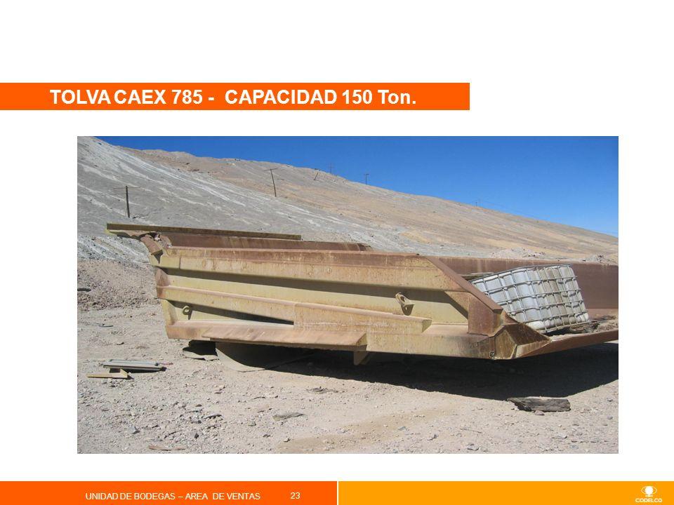 TOLVA CAEX 785 - CAPACIDAD 150 Ton.