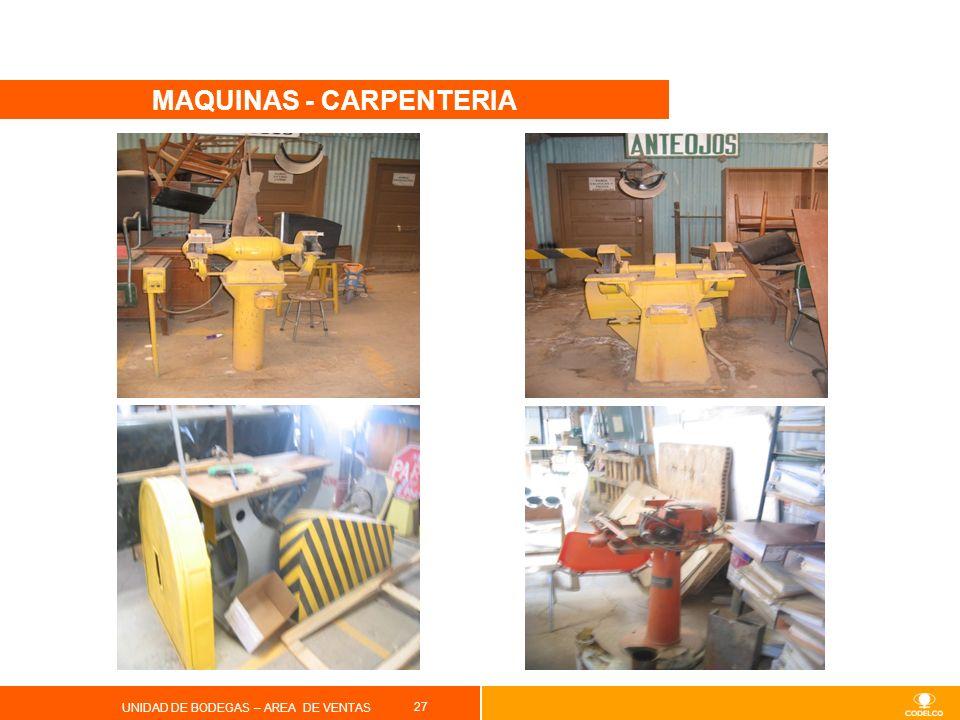 MAQUINAS - CARPENTERIA