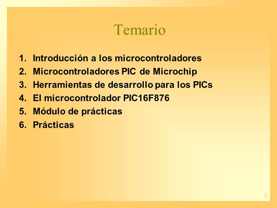 Temario Introducción a los microcontroladores